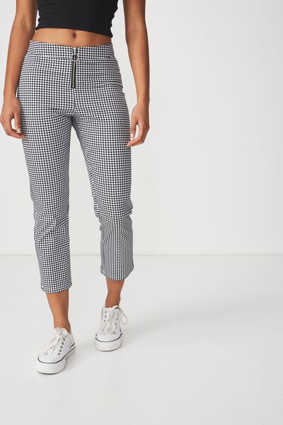 Sammi Capri Pant, VERONICA CHECK BLACK