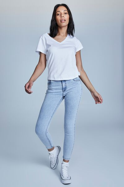 Mid Rise Cropped Skinny Jean, ROADKNIGHT BLUE