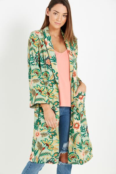 Pj Kimono, PERSIA FLORAL JADE