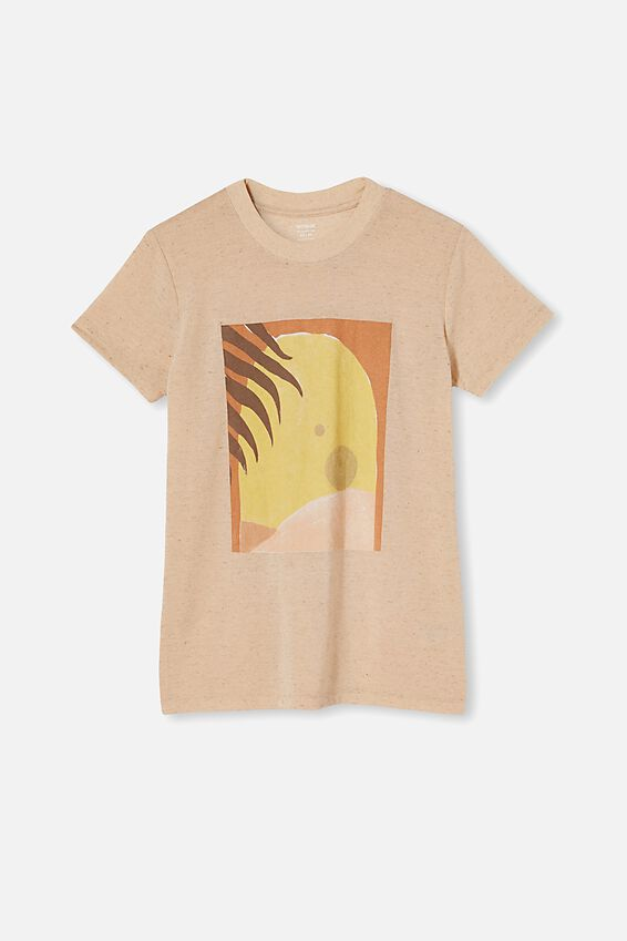 Classic Arts T Shirt - Poly Linen Blend Bfly, ARCHWAY/SOFT PEACH