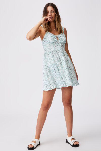 Woven Sandy Skater Dress, ELOISE DAISY HORIZON BLUE