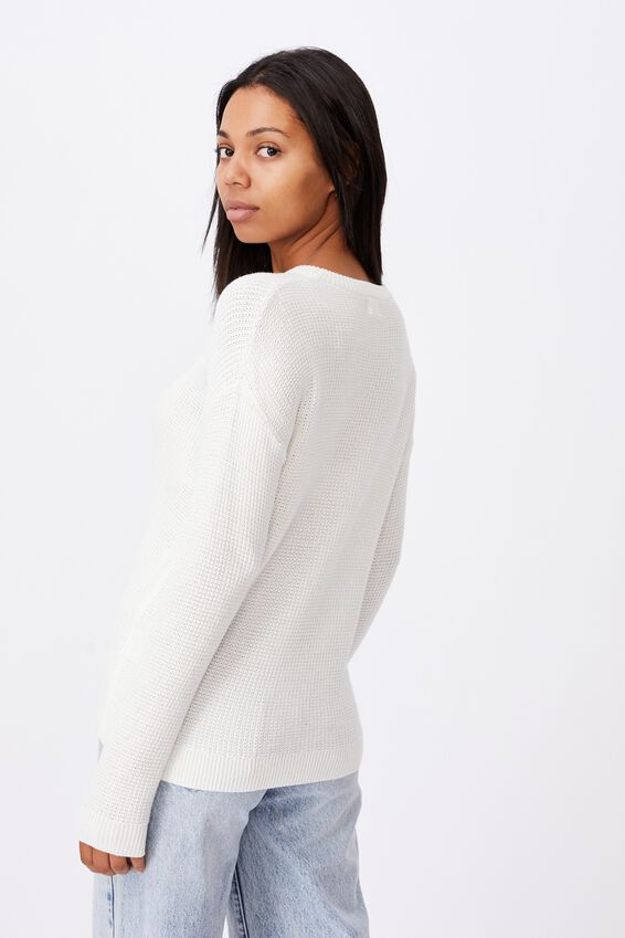 Cotton Pullover, SNOW WHITE