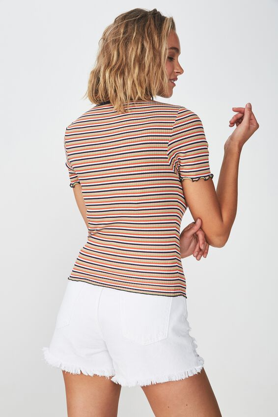 The Sister Short Sleeve Tee, PIA STRIPE IVY GREEN