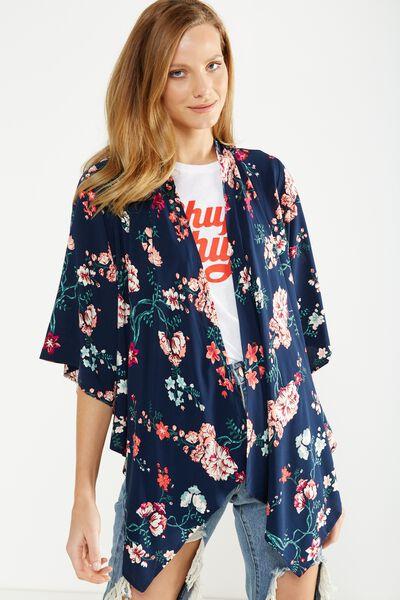 Leah Kimono, TASIA FLORAL MOOD INDIGO