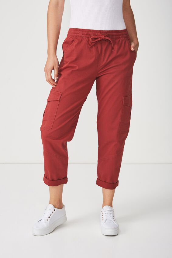 Rolled Hem Chino, ROSEWOOD