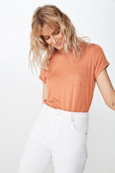 Kathleen Short Sleeve Top, SUNBURN