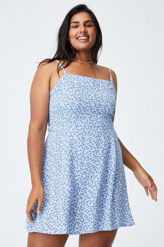 Curve Woven Kendall Dress, HILDA DITSY VINTAGE BLUE