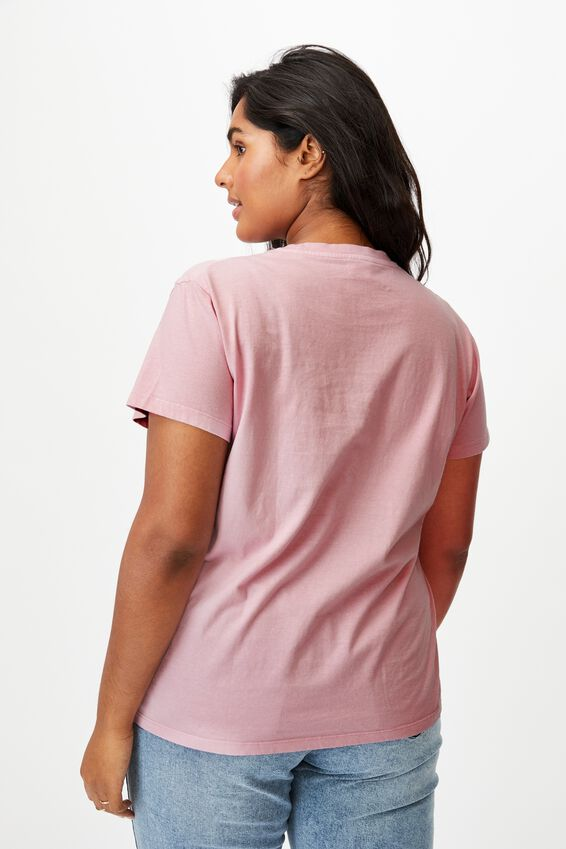 Curve Graphic Tee, SHOW SOME LOVE/SOFT MAUVE