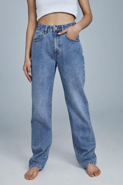 Petite Straight Jean, WATEGOS BLUE