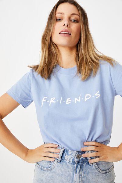 Classic Friends Logo T Shirt, LCN WB FRIENDS LOGO/VINTAGE BLUE