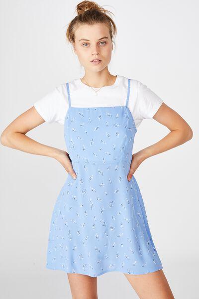 Woven Kendall Mini Dress, RILEY DITSY CORNFLOWER BLUE