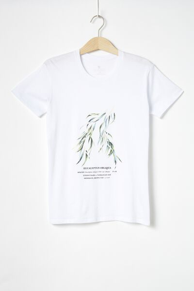 Classic Arts T Shirt, EUCALYPTUS/WHITE