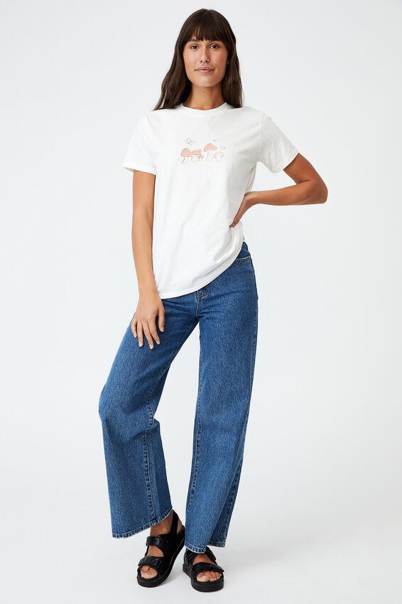 Classic Arts T Shirt, MUSHROOMS/GARDENIA