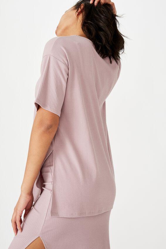 Bella Drop Shoulder Short Sleeve Top, LILAC