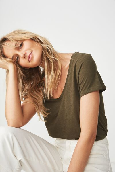 The Deep V, UTILITY KHAKI