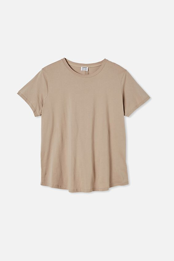 Curve The One Crew Tee, VINTAGE TAUPE