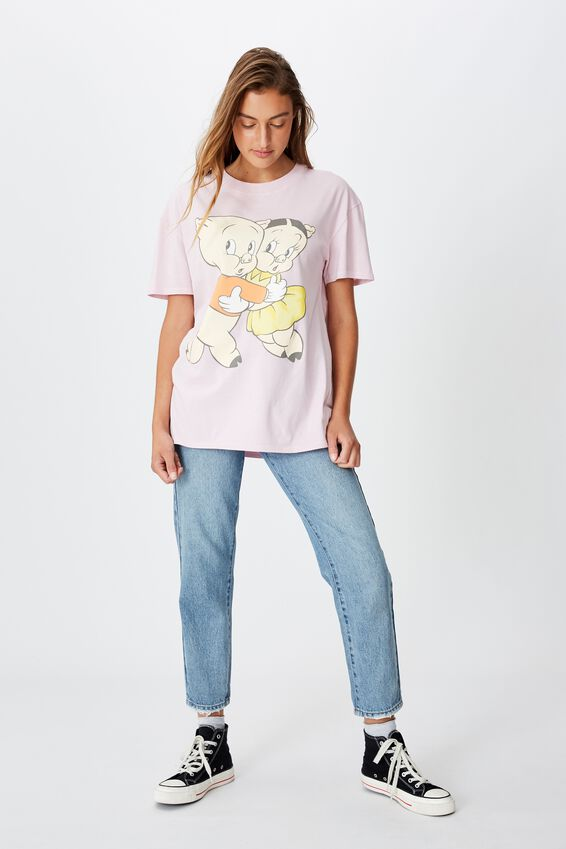 The Original Graphic Tee, LCN WB PORKY AND PETUNIA/ORCHID
