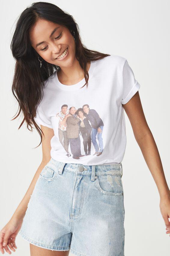 Seinfeld Graphic T Shirt, LCN SEINFELD STANDING/WHITE