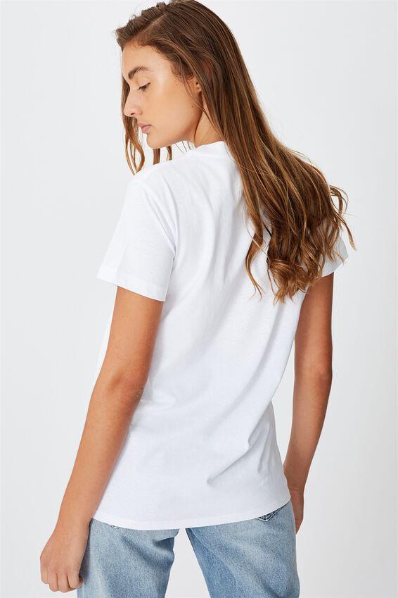 Classic Band T Shirt, LCN WMG LOCNVILLE LOGO/WHITE