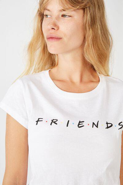 Essential Friends T Shirt, LCN WB FRIENDS LOGO/WHITE