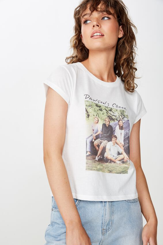 Essential Tv Movie T Shirt, LCN WB DAWSONS CREEK PHOTO/WHITE