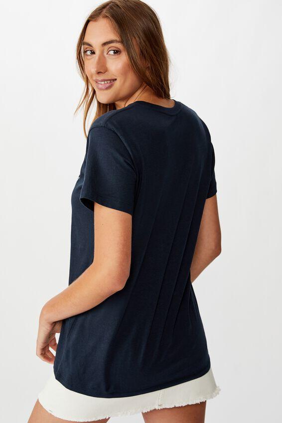 Classic Slogan T Shirt, WEEKEND VIBES/BLUE GRAPHITE