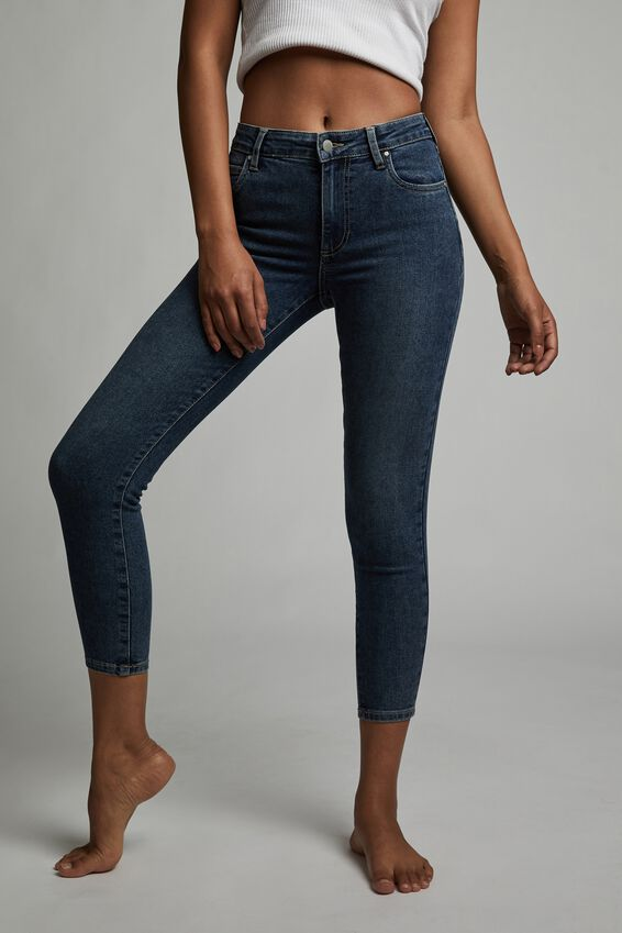 Mid Rise Cropped Skinny Jean, SOUTHSIDE BLUE