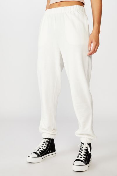 High Waisted Trackpant, CLOUD DANCER