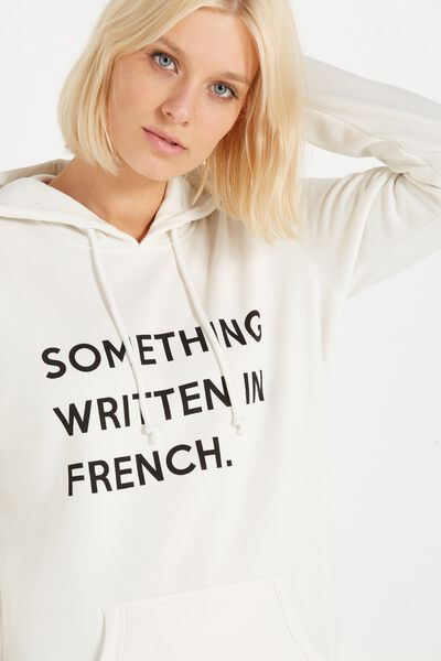 Delevingne Graphic Hoodie, SOMETHING FRENCH/GARDENIA