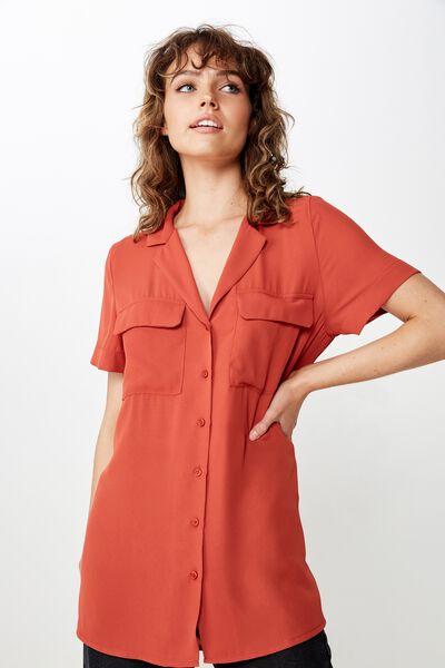 Riley Sheer Shirt, TANDOORI SPICE