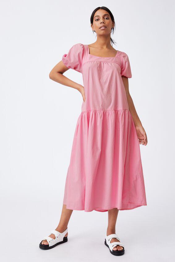 Woven Serena Tie Back Babydoll Maxi Dress, WILD LILAC