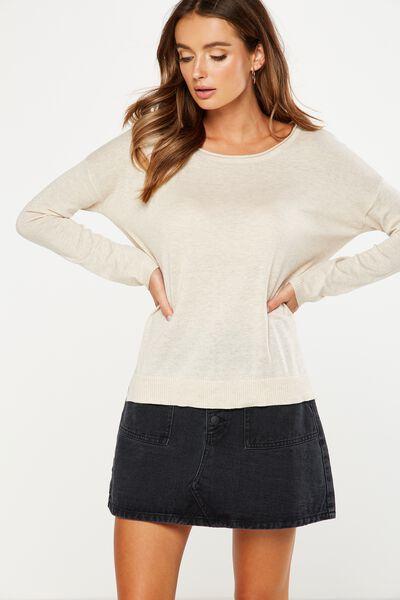Everyday 2 Fine Gauge Pullover, OAT MARLE