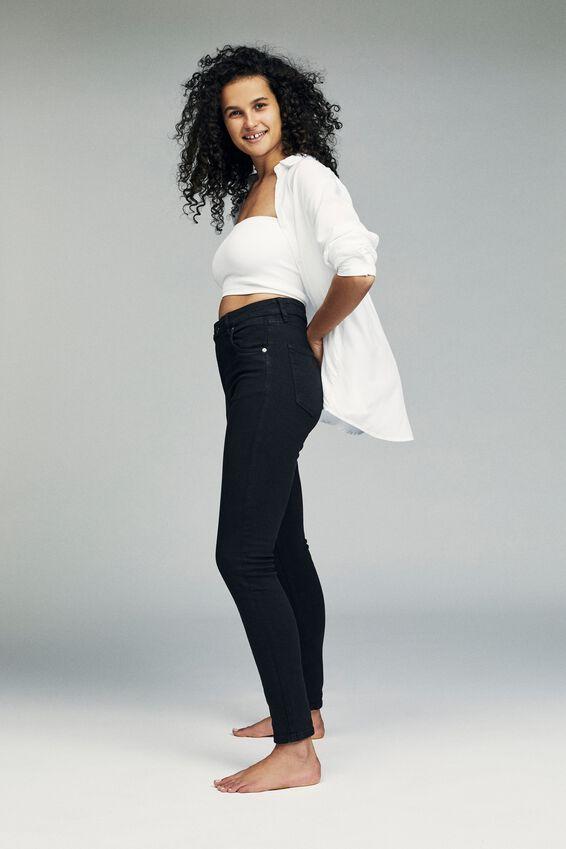 High Rise Skinny Jean, BLACK WASH