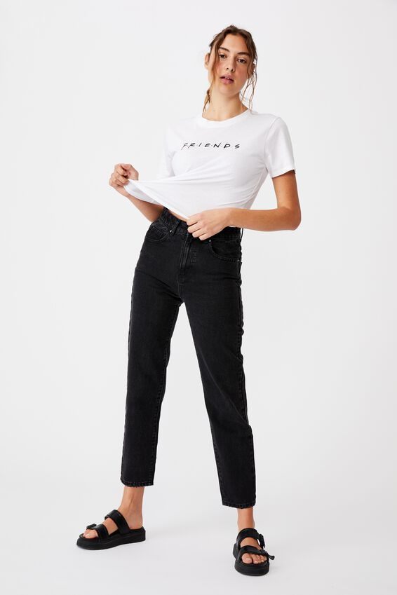 Essential Friends T Shirt, LCN WB FRIENDS LOGO/WHITE