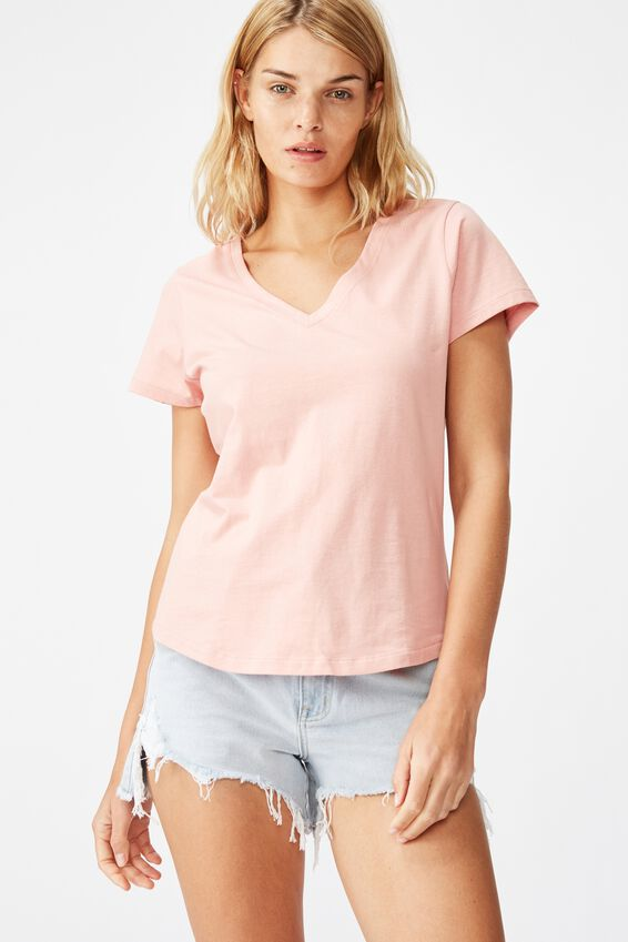 The One Fitted V Tee, ROSE MUSK