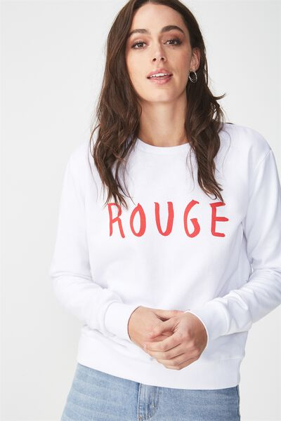 Ferguson Graphic Crew Sweater, ROUGE/WHITE