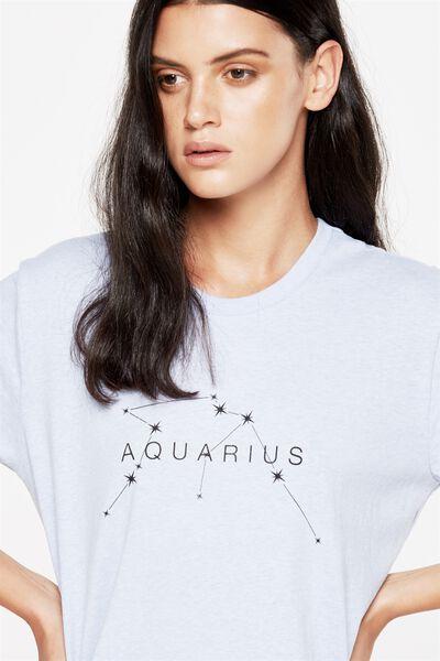 Tbar Fox Graphic T Shirt, AQUARIUS/BLUE HAZE MARLE