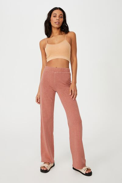 April Wide Leg Pant, EARTHY RED