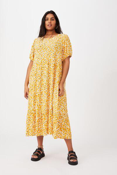 Curve Cece Babydoll Maxi Dress, AVA DAISY MANGO