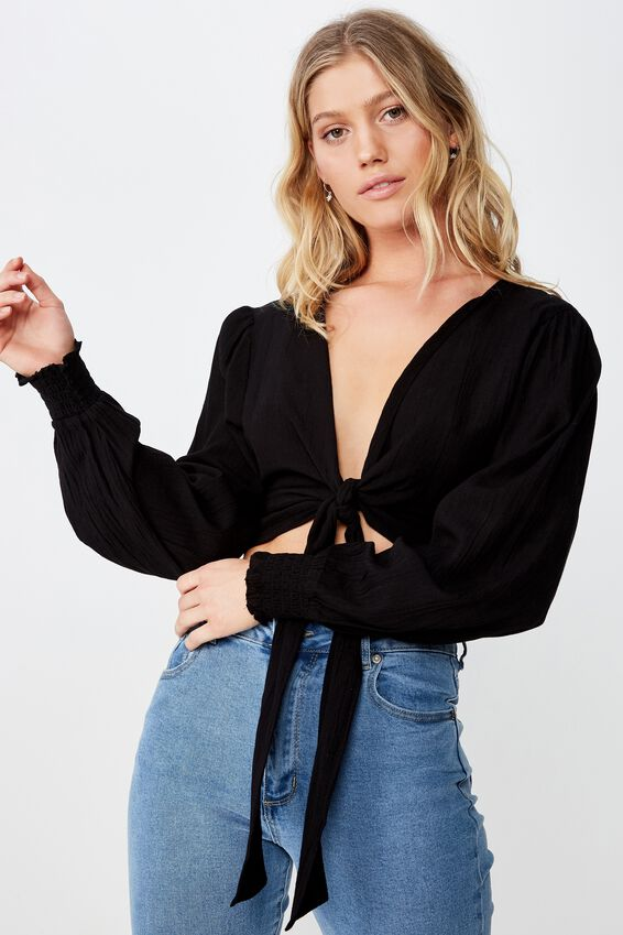 Francesca Ls Top, BLACK