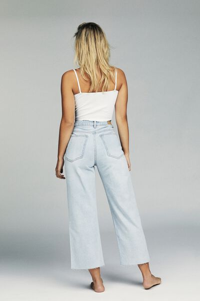 Wide Leg Cropped Jean, BROOKLYN BLUE