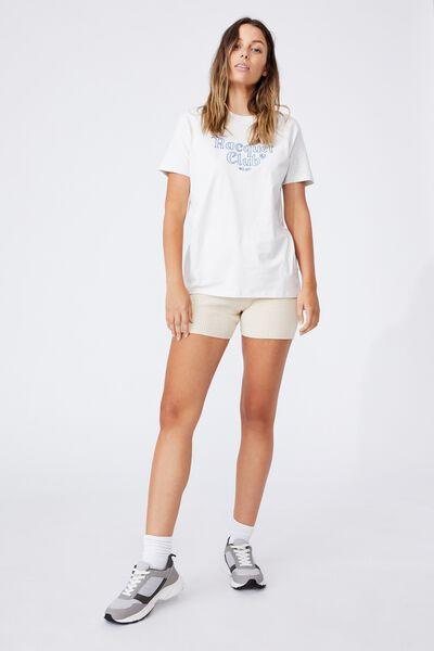 Classic Slogan T Shirt, RACQUET CLUB/VINTAGE WHITE