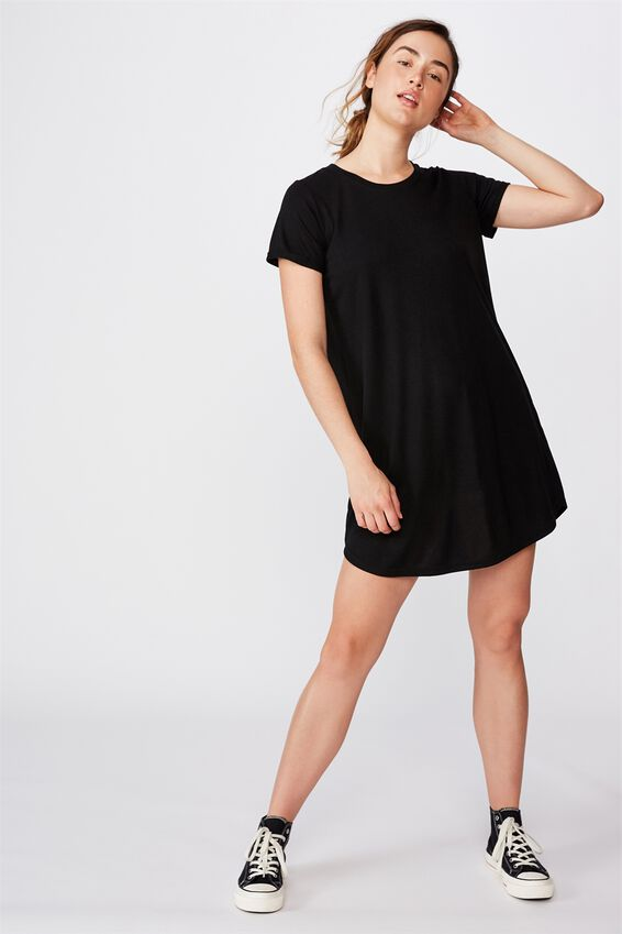Tina Tshirt Dress 2, BLACK 2