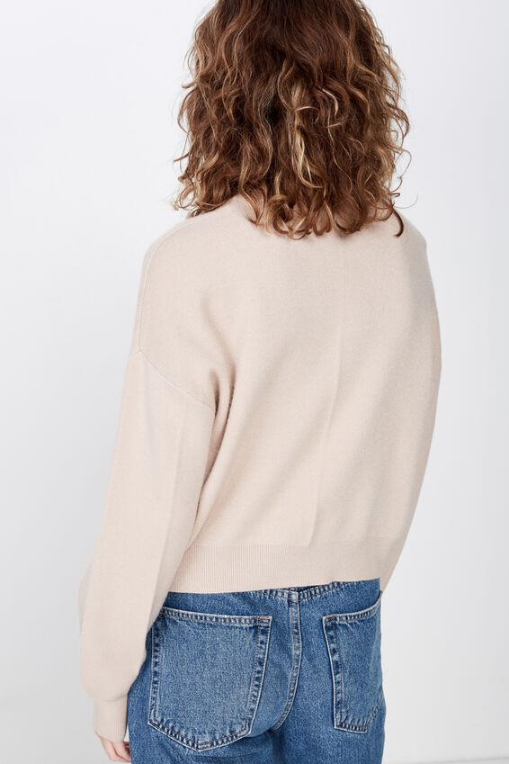 Chloe Crew Luxe Pullover, GRAY MORN