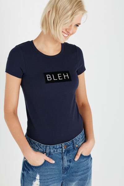 Tbar Hero Graphic T Shirt, BLEH/MOONLIGHT
