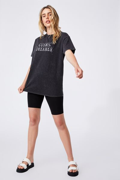 The Relaxed Boyfriend Graphic Tee, COSMIC DREAMER/BLACK
