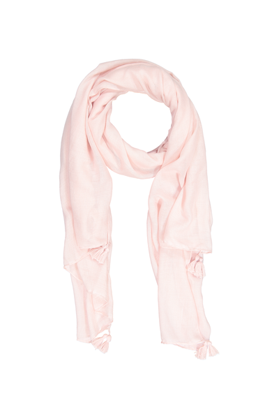 Wrap Yourself Print Scarf, NUDE PINK