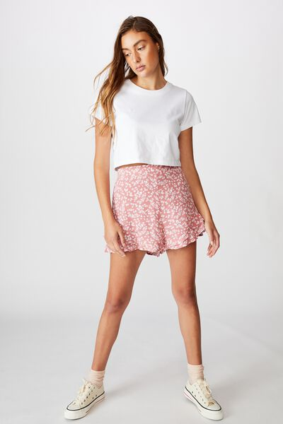 Fifi Frill Short, CORA DITSY DUSTY ROSE