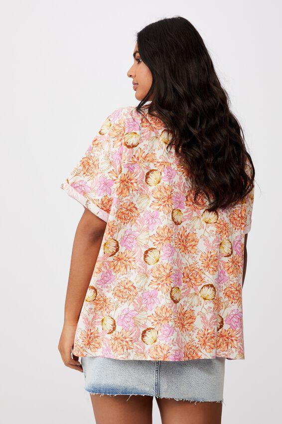 Curve Pool Side Shirt, KAIA SHELL MELON