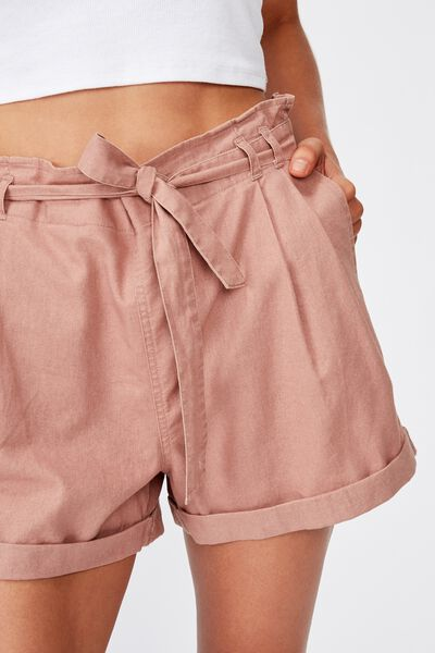 Riley High Waist Short, BURLWOOD